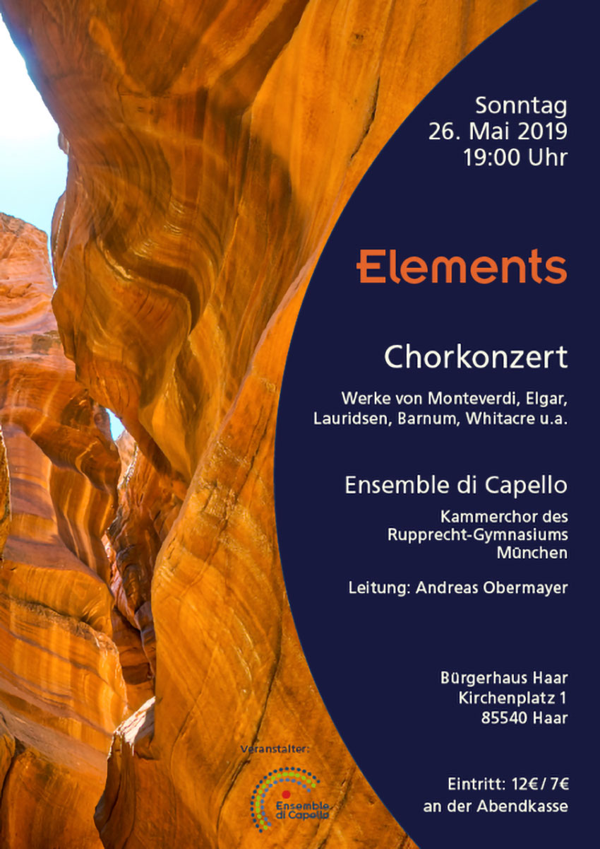 Konzert Elements Flyer