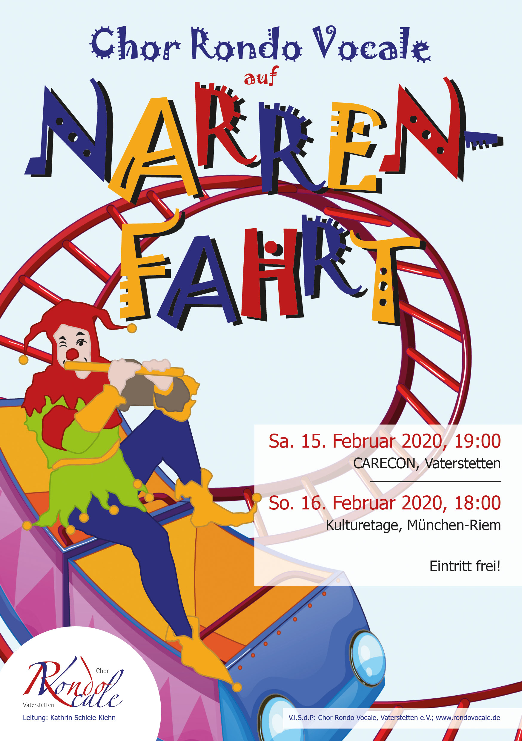"""Narrenfahrt"" Plakat Rondo Vocale"