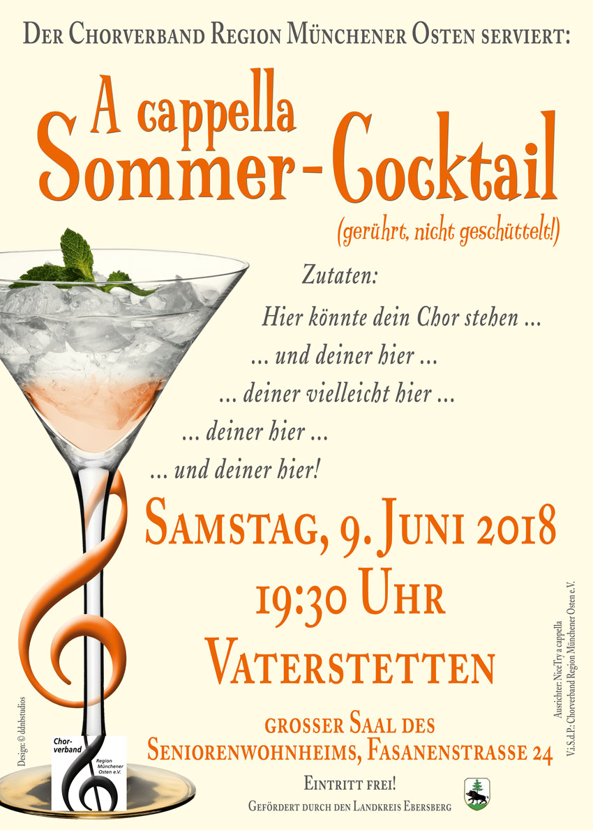 A Cappella Sommer-Cocktail 2018